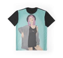 Tonks Blue Background Graphic T-Shirt