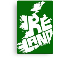 Ireland White Canvas Print