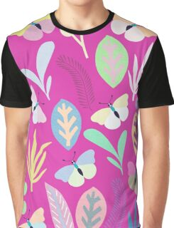 Flower and Butterfly Graphic T-Shirt