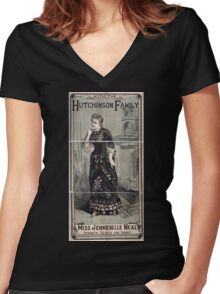 Performing Arts Posters Miss Jenniebelle Neal dramatic reader and pianist with the Hutchinson Family 1926 Women's Fitted V-Neck T-Shirt