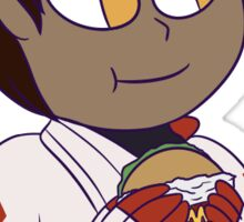 Candela With A Burger Sticker