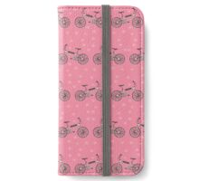 Bicycles pattern iPhone Wallet/Case/Skin