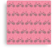 Bicycles pattern Canvas Print