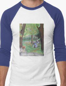 Landscape with Robot Men's Baseball ¾ T-Shirt