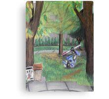 Landscape with Robot Canvas Print