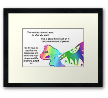 Angry Radioactive Rainbows 2 Framed Print
