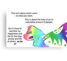 Angry Radioactive Rainbows 2 Canvas Print