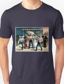 Performing Arts Posters Group of sailors and passengers aboard ship 1830 Unisex T-Shirt