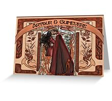 Arthur & Guinevere Greeting Card