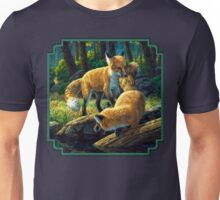 Red Fox Pups Playing Unisex T-Shirt