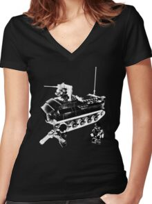 marines holiday Women's Fitted V-Neck T-Shirt