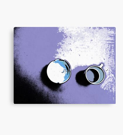 Cup and ashtray Canvas Print