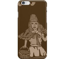 Little red riding hood vintage iPhone Case/Skin