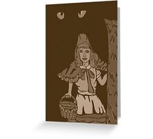 Little red riding hood vintage Greeting Card
