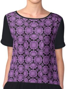 purple flower print Chiffon Top