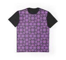 purple flower print Graphic T-Shirt