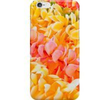 Diagonal Plumeria Lei's in Yellow and Pink iPhone Case/Skin