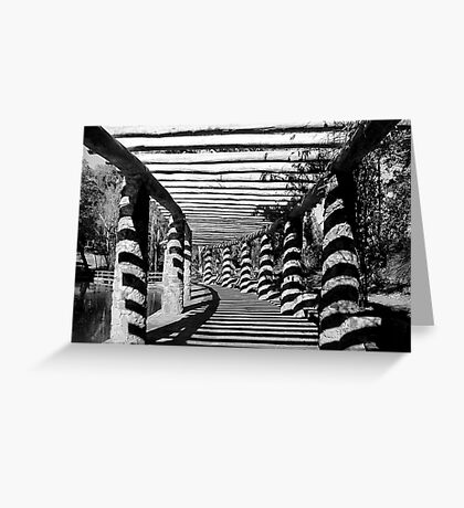 Path Of Shadows  Greeting Card