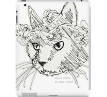 Flower Crown Cat Sketch iPad Case/Skin
