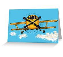 Yellow jet Greeting Card