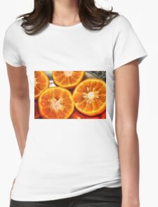 Section of cut oranges Womens Fitted T-Shirt
