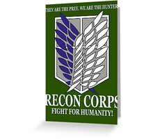 Recon Corps - Attack On Titan Greeting Card