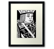 JACK OF DIAMONDS (b/w) Framed Print