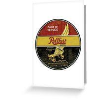 Rollfast Vintage Roller skates Greeting Card