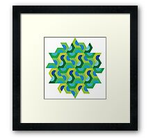 Abstract Half Hex Framed Print