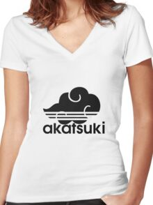 AKATSUKI logo Women's Fitted V-Neck T-Shirt