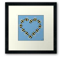 Bee hearty! Framed Print