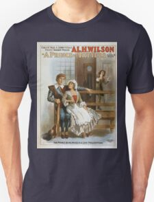 Performing Arts Posters Chas H Yale Sidney R Ellis present golden voiced Al H Wilson in A prince of tatters by Sidney R Ellis 0118 Unisex T-Shirt