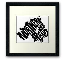 Northern Ireland Black Framed Print
