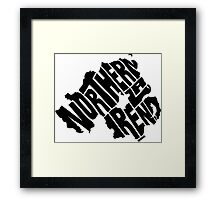 Northern Ireland Black Framed Print