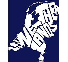 Netherlands White Photographic Print