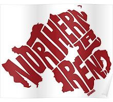 Northern Ireland Red Poster