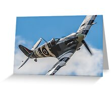 Spitfire Rolling In Greeting Card