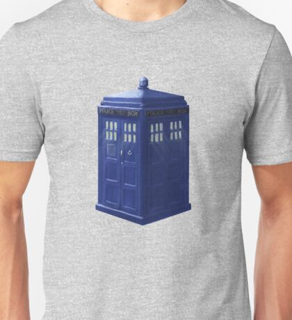 Tardis with Light Unisex T-Shirt