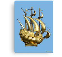 Golden Sail Dress Canvas Print