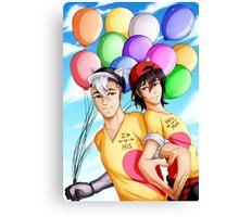 Hearts and Balloons Canvas Print