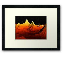 Sci Fi Mountains Landscape Framed Print