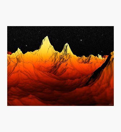 Sci Fi Mountains Landscape Photographic Print