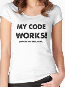 My code works Women's Fitted Scoop T-Shirt