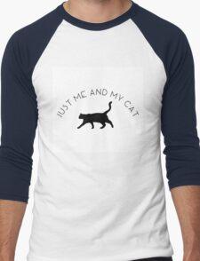 Just Me and My Cat Men's Baseball ¾ T-Shirt