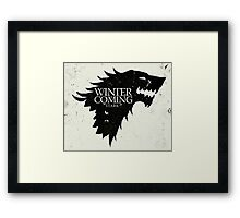 Game of Thrones - Winter is Coming Framed Print