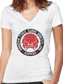 Nagoya Foos Sumo Wrestling Women's Fitted V-Neck T-Shirt