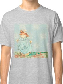 Lady from 1800 century out for a walk, beautiful,vintage,elegant,chic,shabby chic Classic T-Shirt