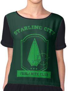 Starling City Vigilante Club 2 Chiffon Top