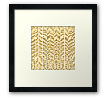 Golden Little Chevrons Framed Print