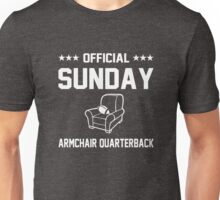 Official Sunday Armchair Quarterback Unisex T-Shirt